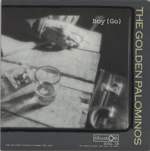 "The Golden Palominos Boy (Go) 7"" vinyl single (7 inch record) US GLP07BO681950"