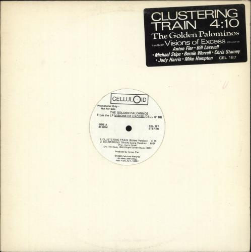 """The Golden Palominos Clustering Train 12"""" vinyl single (12 inch record / Maxi-single) US GLP12CL302273"""
