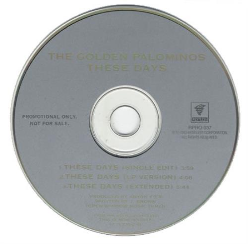 """The Golden Palominos These Days CD single (CD5 / 5"""") UK GLPC5TH401941"""