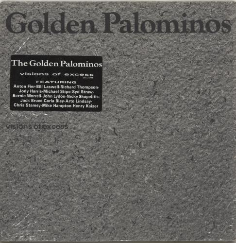 The Golden Palominos Visions Of Excess - Stickered shrink vinyl LP album (LP record) US GLPLPVI696849