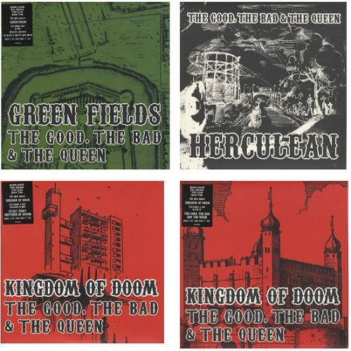 "The Good, The Bad And The Queen Collection Of 4 x 7"" Singles 7"" vinyl single (7 inch record) UK TUQ07CO442711"