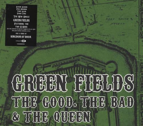 "The Good, The Bad And The Queen Green Fields CD single (CD5 / 5"") UK TUQC5GR396037"