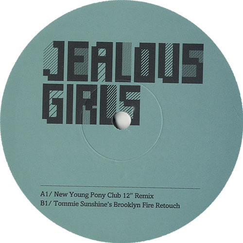"The Gossip Jealous Girls 12"" vinyl single (12 inch record / Maxi-single) UK F4T12JE441163"
