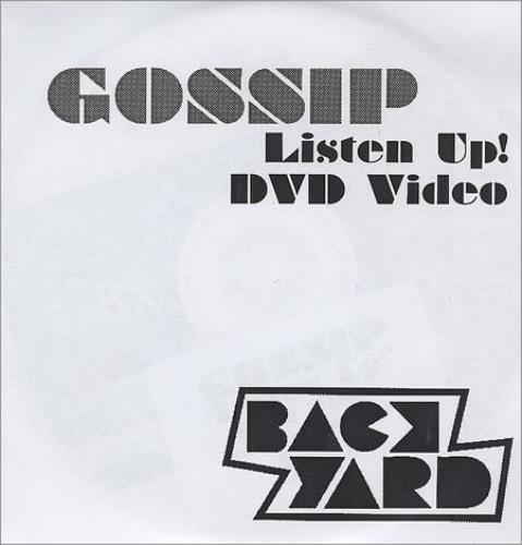The Gossip Listen Up! promo DVD-R UK F4TDRLI411639