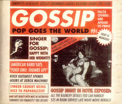 The Gossip Pop Goes The World CD-R acetate US F4TCRPO510882