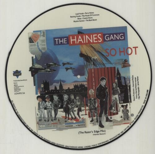 "The Haines Gang So Hot 12"" vinyl picture disc 12inch picture disc record UK U0F2PSO675104"