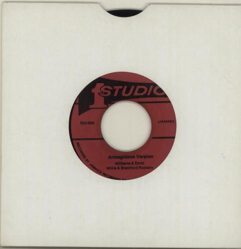 "The Hamburg Student Choir Armagideon Time 7"" vinyl single (7 inch record) Jamaican YMV07AR687805"