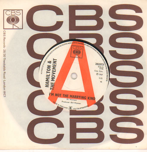 "The Hamilton Movement I'm Not The Marrying Kind 7"" vinyl single (7 inch record) UK HMV07IM640833"