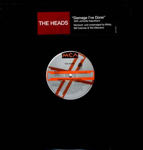 "The Heads Damage I've Done 12"" vinyl single (12 inch record / Maxi-single) US T-H12DA86667"