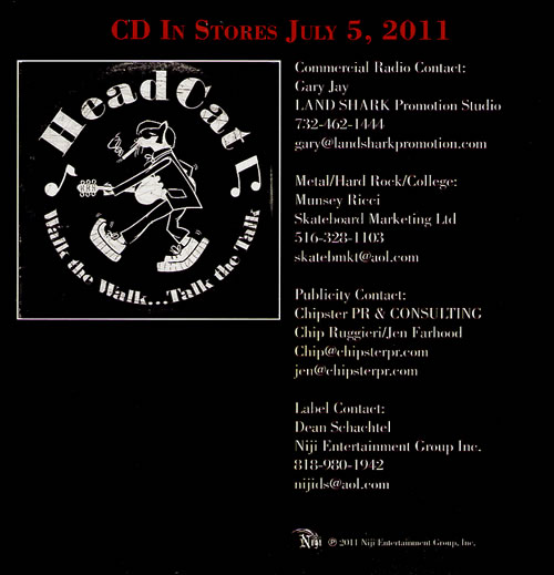"The Head Cat American Beat CD single (CD5 / 5"") US HE4C5AM555560"