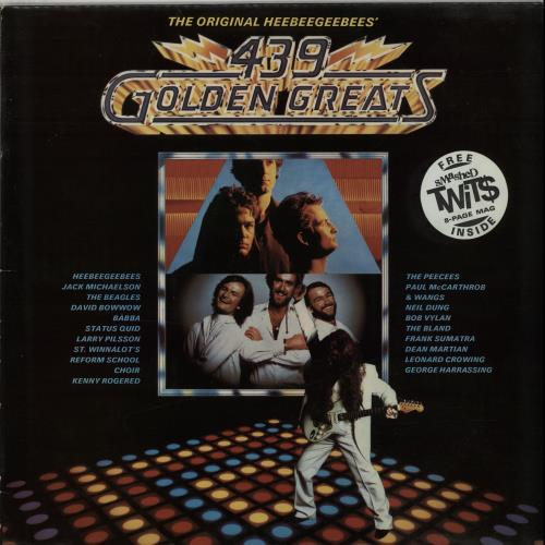 The HeeBeeGeeBees 439 Golden Greats / Never Mind The Originals + mag vinyl LP album (LP record) UK EE3LPGO645293