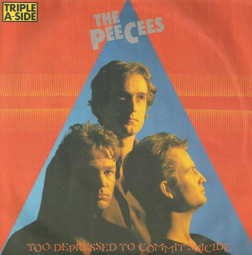 "The HeeBeeGeeBees Too Depressed To Commit Suicide 7"" vinyl single (7 inch record) UK EE307TO518005"