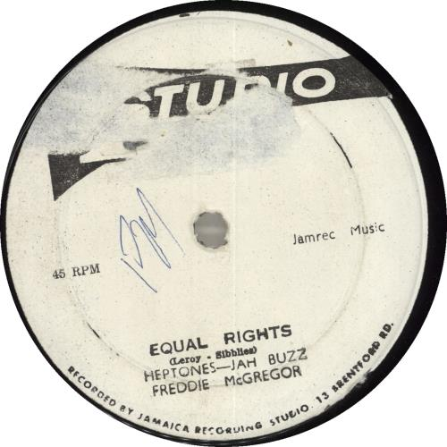 """The Heptones Equal Rights 12"""" vinyl single (12 inch record / Maxi-single) Jamaican HPT12EQ715948"""