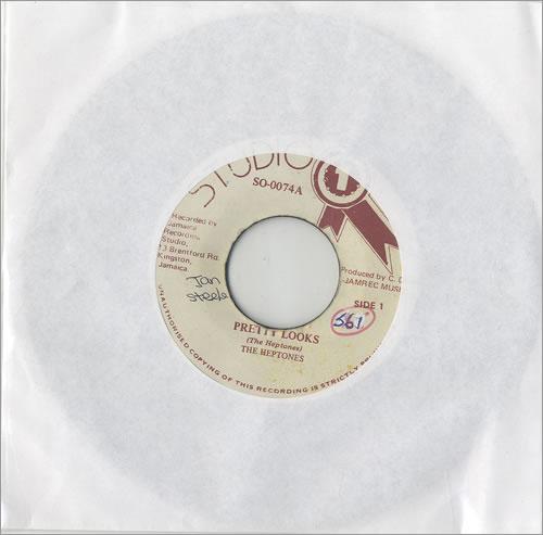 "The Heptones Pretty Looks 7"" vinyl single (7 inch record) Jamaican HPT07PR492240"