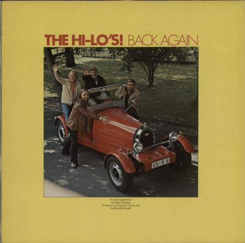 The Hi-Lo's Back Again vinyl LP album (LP record) UK T8ZLPBA652107