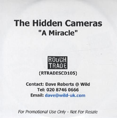 The Hidden Cameras A Miracle CD-R acetate UK HICCRAM249373