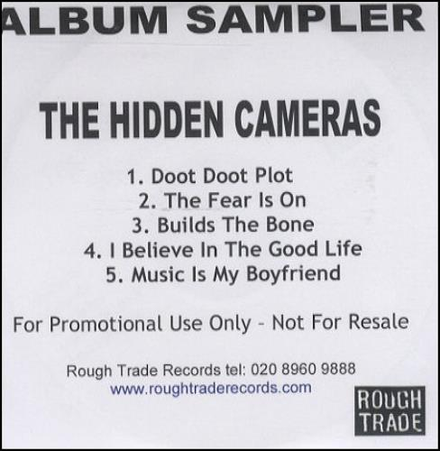 The Hidden Cameras Album Sampler CD-R acetate UK HICCRAL296268