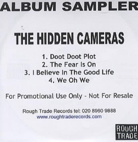 The Hidden Cameras Album Sampler CD-R acetate UK HICCRAL317819