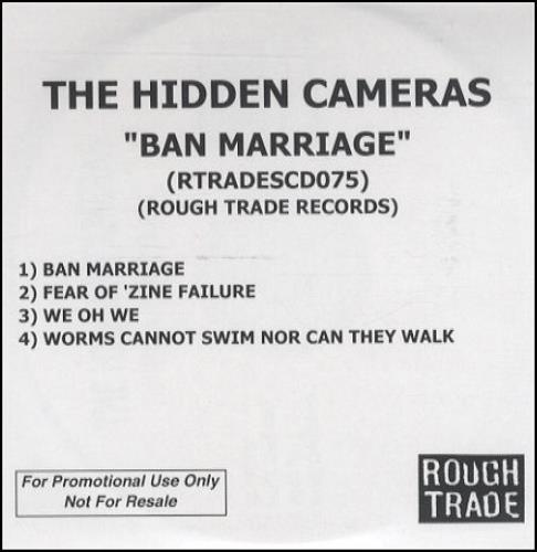 The Hidden Cameras Ban Marriage CD-R acetate UK HICCRBA247246