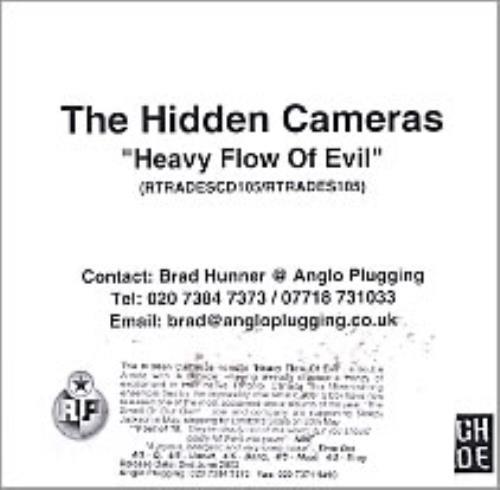 The Hidden Cameras Heavy Flow Of Evil CD-R acetate UK HICCRHE253233
