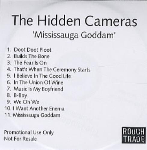 The Hidden Cameras Mississauga Goddam CD-R acetate UK HICCRMI316224
