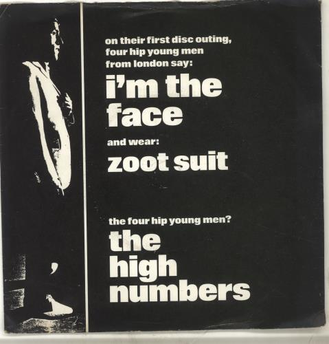 """The High Numbers I'm The Face + Sleeve 7"""" vinyl single (7 inch record) UK HGH07IM146835"""