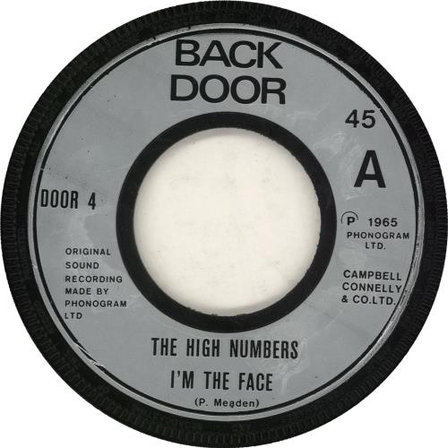 """The High Numbers I'm The Face - Jukebox 7"""" vinyl single (7 inch record) UK HGH07IM737184"""