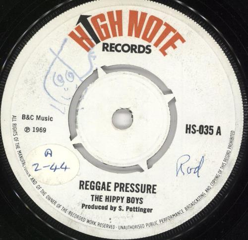 "The Hippy Boys Reggae Pressure 7"" vinyl single (7 inch record) UK VW107RE731518"