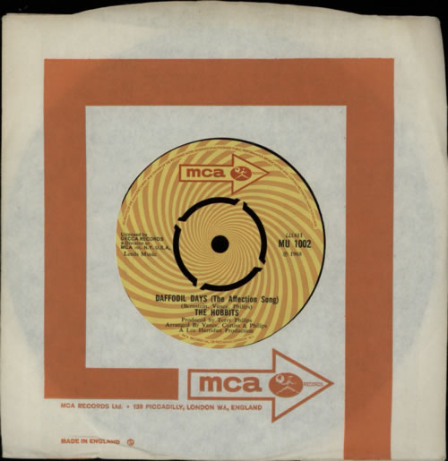 """The Hobbits Daffodil Days [The Affection Song] 7"""" vinyl single (7 inch record) UK HBI07DA591223"""