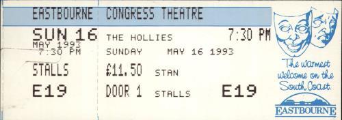 The Hollies 30th Anniversary Tour + Ticket Stub & Flyers tour programme UK HLLTRTH689412