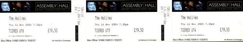 The Hollies Autumn 2004 + Ticket Stub tour programme UK HLLTRAU689434