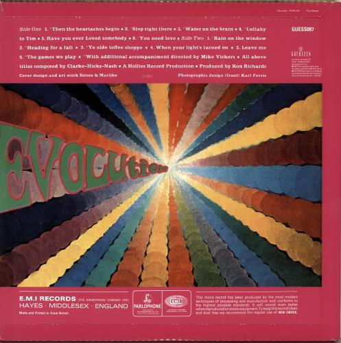 The Hollies Evolution - 180gm vinyl LP album (LP record) Spanish HLLLPEV704153