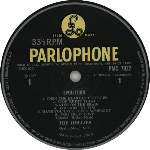 The Hollies Evolution - 1st - EX vinyl LP album (LP record) UK HLLLPEV638995