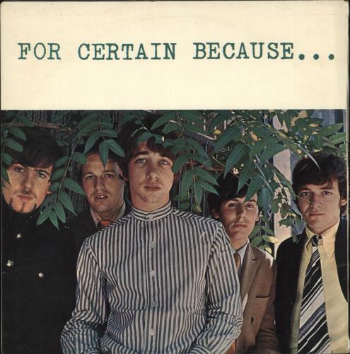The Hollies For Certain Because... - VG vinyl LP album (LP record) UK HLLLPFO718677