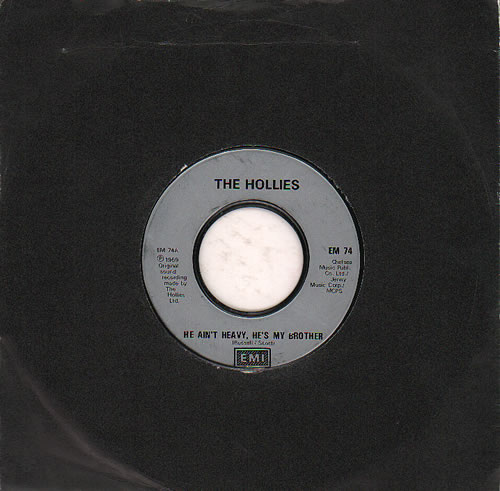 "The Hollies He Ain't Heavy, He's My Brother - Jukebox 7"" vinyl single (7 inch record) UK HLL07HE636647"