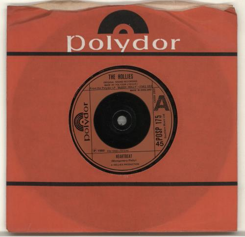 """The Hollies Heartbeat 7"""" vinyl single (7 inch record) UK HLL07HE702515"""