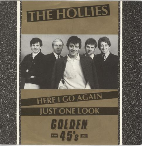"""The Hollies Here I Go Again / Just One Look 7"""" vinyl single (7 inch record) UK HLL07HE719119"""