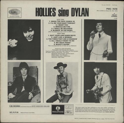The Hollies Hollies Sing Dylan - 1st vinyl LP album (LP record) UK HLLLPHO81198