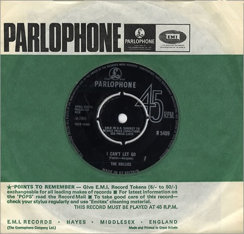 """The Hollies I Can't Let Go 7"""" vinyl single (7 inch record) UK HLL07IC558021"""