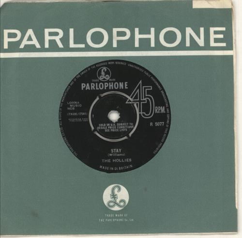 """The Hollies Stay - 2nd 7"""" vinyl single (7 inch record) UK HLL07ST748053"""
