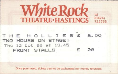 The Hollies The Hollies + Ticket Stub & Flyer tour programme UK HLLTRTH689400