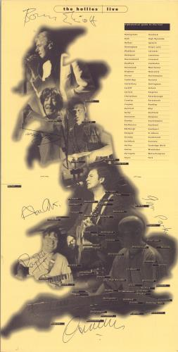 The Hollies The Hollies Live - Autographed + Ticket & Flyers tour programme UK HLLTRTH689422