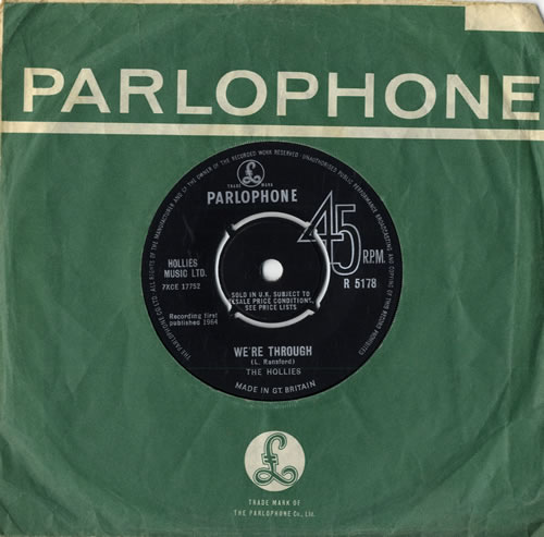 "The Hollies We're Through 7"" vinyl single (7 inch record) UK HLL07WE255817"