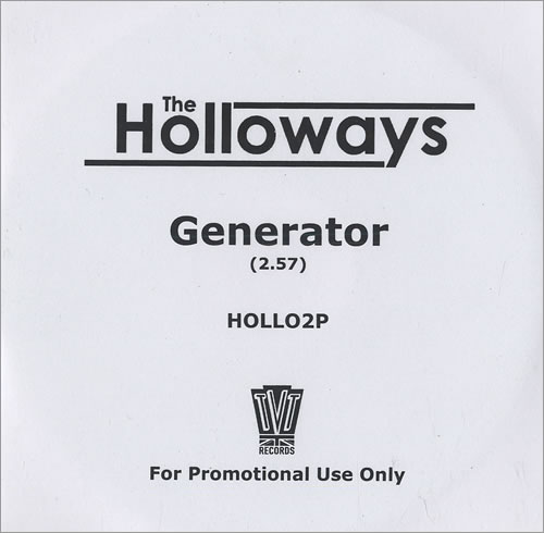 The Holloways Generator CD-R acetate UK HOYCRGE472048