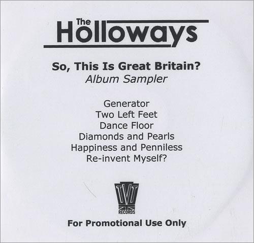 The Holloways So, This Is Great Britain? - Album Sampler CD-R acetate UK HOYCRSO472043