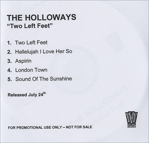 The Holloways Two Left Feet CD-R acetate UK HOYCRTW435815