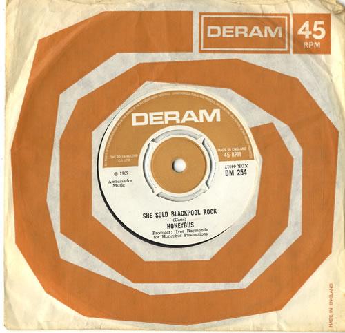 "The Honeybus She Sold Blackpool Rock 7"" vinyl single (7 inch record) UK HYB07SH596491"