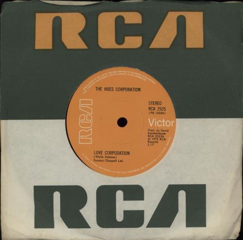 "The Hues Corporation Love Corporation 7"" vinyl single (7 inch record) UK UH507LO753848"