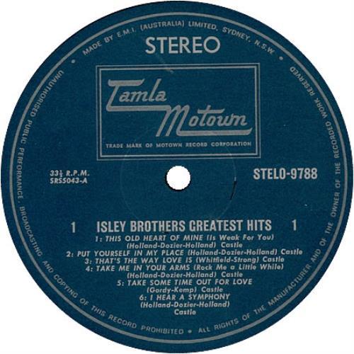 The Isley Brothers Greatest Hits Australian vinyl LP album ...