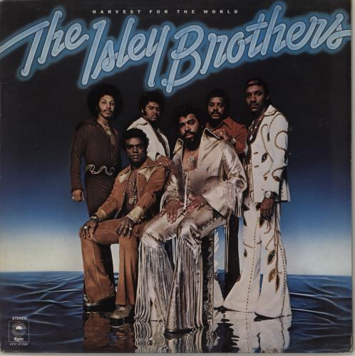 The Isley Brothers Harvest For The World - Promo stickered vinyl LP album (LP record) UK ISRLPHA754013
